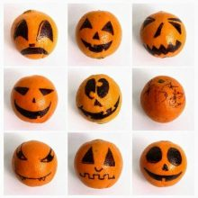 Spooky Orange Faces