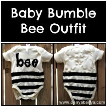 How to make a Baby Bumble Bee outfit
