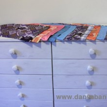 Sewing fabric liners for the chest of drawers