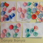 Easy toddler time-filler craft idea – pasting cupcake patty pans