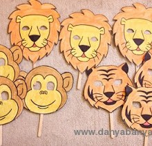 Zoo Animal Face Masks