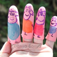 Easy No Sew Peppa Pig Finger Puppets