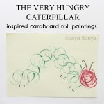 The Very Hungry Caterpillar inspired cardboard roll paintings