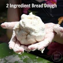 Two ingredient bread dough - that kids can make, play with, and eat!