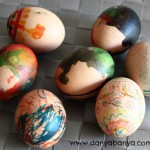 Decorating Eggs with edible paints and markers