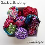 Kid-Made Chocolate Crackle Easter Eggs with DIY Painted Foil {and on encouraging kids to plan}