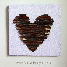 Heart Art: 3D artwork using sticks