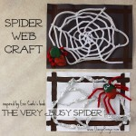 Spider Web Craft based on The Very Busy Spider by Eric Carle