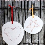 Hand sewing for kids: Heart & Star Decorations