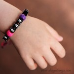 Phone Number Bracelets {that kids can help make}