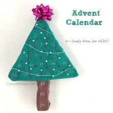 Advent Calendar (made from loo rolls)