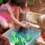 Summer ocean themed water play in the backyard ~ Danya Banya