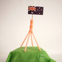 Aussie Kids Craft Idea make a replica Australian Parliament House flagmast using bendy straws from Danya Banya blog