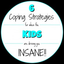 6 Coping Strategies for when the Kids are driving you Insane