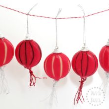 Chinese Lanterns made from Babybel Cheese