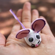 Cute mouse that kids can help make