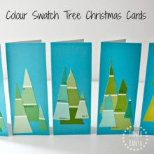 Colour Swatch Tree Christmas Cards