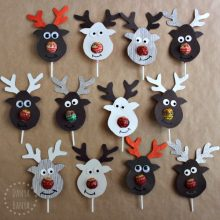 Rudolph Reindeer Lollipop Noses Cutest school class gift for kids ever!