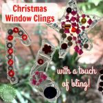 Christmas Window Clings {with a touch of bling}