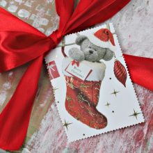 Upcycled Christmas card gift tags