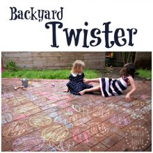 Backyard Twister Gross Motor fun