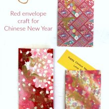 Hong Bao red envelope craft for Chinese New Year
