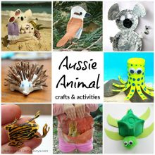 Aussie Animal crafts and activities for kids - great for learning about Australia
